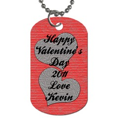 Valentinedogtag By Patti And Michelle   Dog Tag (two Sides)   Ag2jr5z6q2vu   Www Artscow Com Back