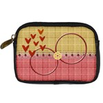 Hearts - Digital Camera Leather Case