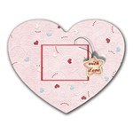 With Love pink - Heart Mousepad