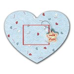 With Love blue - Heart Mousepad