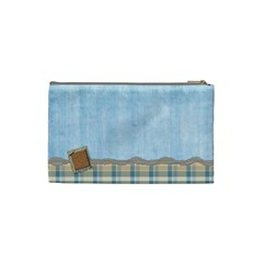 Boys Like Blue Small Cosmetic Bag By Lisa Minor   Cosmetic Bag (small)   6xwa0akpdvty   Www Artscow Com Back