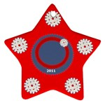 Snowflake red - Ornament (Star)