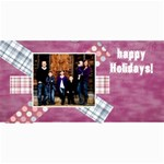 snow christmas card - 4  x 8  Photo Cards