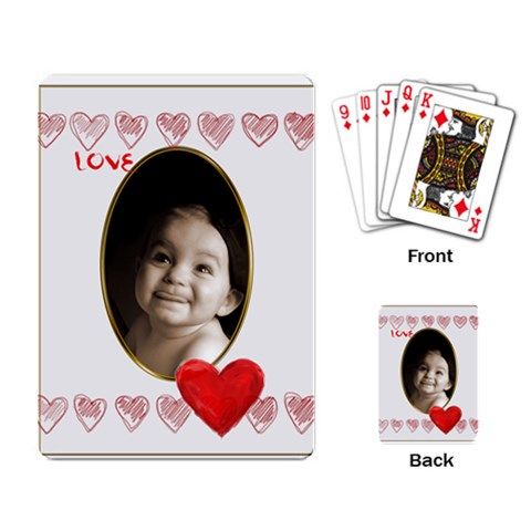 Love Heart Gold Vignette Playing Cards By Catvinnat   Playing Cards Single Design   B672g33gwoav   Www Artscow Com Back