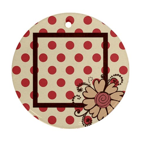 Kit H&h Ornament 1 By Lisa Minor   Ornament (round)   9ja3fy1kw6r0   Www Artscow Com Front