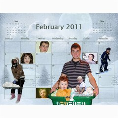 Calendar By Julia   Wall Calendar 11  X 8 5  (12 Months)   L1rr5w53a19p   Www Artscow Com Feb 2011