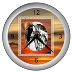 Sunset Clock - Wall Clock (Silver)