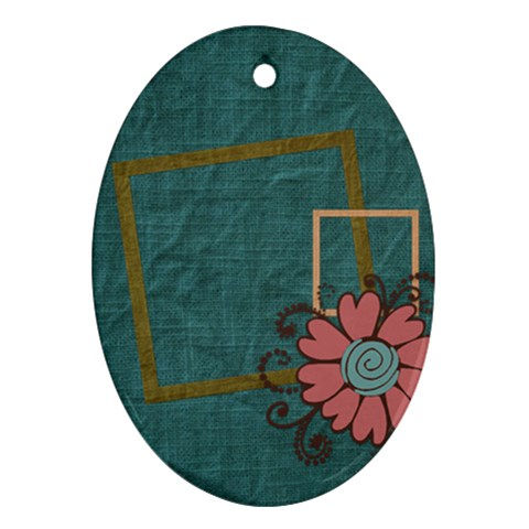 Kit H&h Oval Ornament 1 By Lisa Minor   Ornament (oval)   P7quj1tp5mw5   Www Artscow Com Front