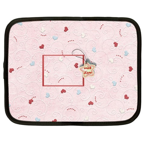 With Love   Pink By Daniela   Netbook Case (xl)   Y0sg5jdunk3w   Www Artscow Com Front