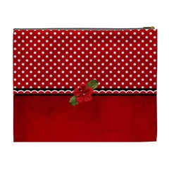 Xl  Cosmetic Case   Red/polka Dots By Jennyl   Cosmetic Bag (xl)   N6kd3e7cr70v   Www Artscow Com Back