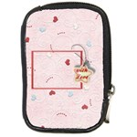 with Love pink - Compact Camera Leather Case