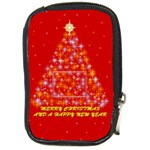Merry Christmas - Compact Camera Leather Case