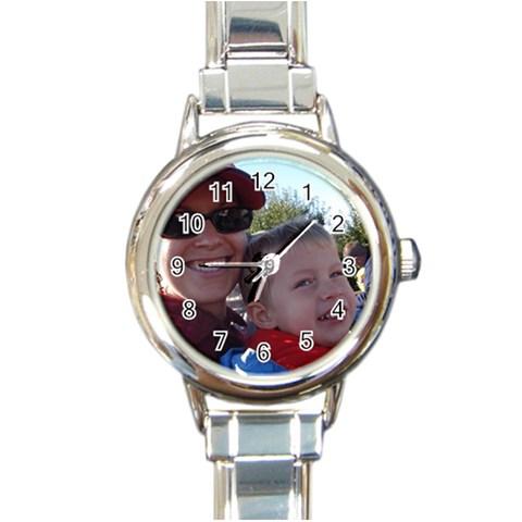 Mimi s Watch By Mary Spak   Round Italian Charm Watch   Tjy4zlbu7j18   Www Artscow Com Front