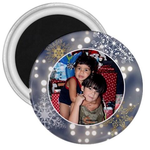 Xmas Swirl 3 Inch Magnet 03 By Ivelyn   3  Magnet   0efx131qhjkz   Www Artscow Com Front