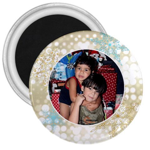 Xmas Swirl 3 Inch Magnet 02 By Ivelyn   3  Magnet   I7r964eu0oas   Www Artscow Com Front
