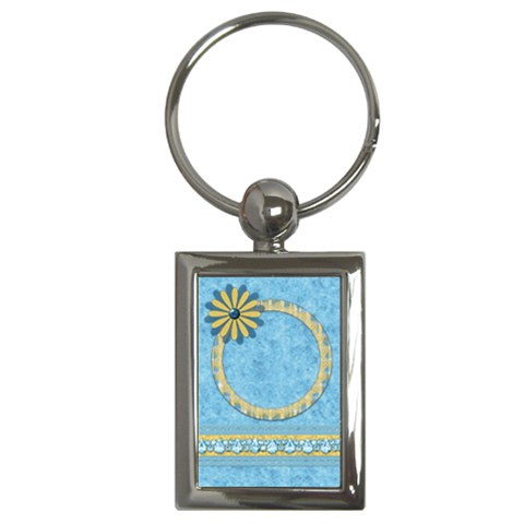 Ella In Blue Keychain 1 By Lisa Minor   Key Chain (rectangle)   1lrzf1wh2sno   Www Artscow Com Front