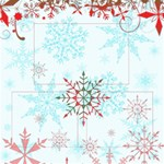 2 of 2 snowflake scrapbook page - ScrapBook Page 12  x 12