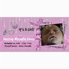 8x4 Birth Announcement Card Girl By Laurrie   4  X 8  Photo Cards   Rzjmvx4umv00   Www Artscow Com 8 x4 Photo Card - 4