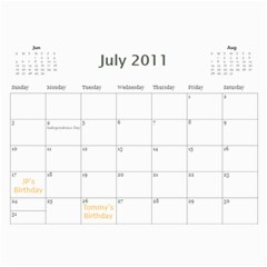 Moms Calendar 2011 By Angeline Petrillo   Wall Calendar 11  X 8 5  (12 Months)   1xglkgm7i2rs   Www Artscow Com Jul 2011