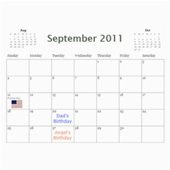 Moms Calendar 2011 By Angeline Petrillo   Wall Calendar 11  X 8 5  (12 Months)   1xglkgm7i2rs   Www Artscow Com Sep 2011