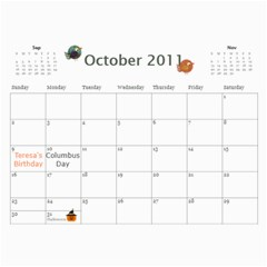 Moms Calendar 2011 By Angeline Petrillo   Wall Calendar 11  X 8 5  (12 Months)   1xglkgm7i2rs   Www Artscow Com Oct 2011