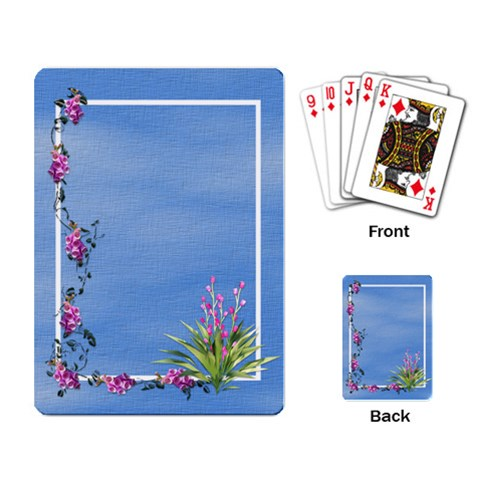 Botanical Wonderland Playing Cards 2 By Lisa Minor   Playing Cards Single Design   6a3yxqitp9xo   Www Artscow Com Back