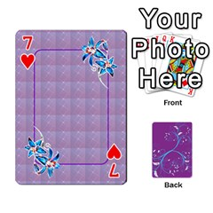 Playing Cards 54 Designes By Galya   Playing Cards 54 Designs   W4hxokdrgd58   Www Artscow Com Front - Heart7