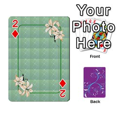 Playing Cards 54 Designes By Galya   Playing Cards 54 Designs   W4hxokdrgd58   Www Artscow Com Front - Diamond2