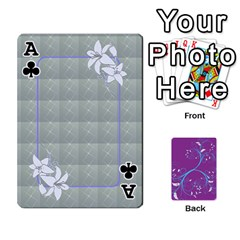 Ace Playing Cards 54 Designes By Galya   Playing Cards 54 Designs   W4hxokdrgd58   Www Artscow Com Front - ClubA