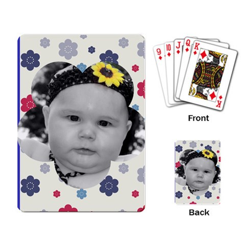 Flower Power Card Layout By Racheal    Playing Cards Single Design   Upvwq3g1b67i   Www Artscow Com Back