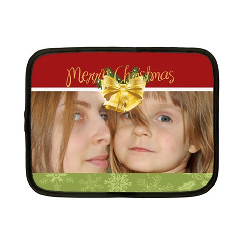 Merry Christmas By Wood Johnson   Netbook Case (small)   Kj793ukh5l1g   Www Artscow Com Front