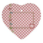 Pips 2 sided heart ornament 1 - Heart Ornament (Two Sides)