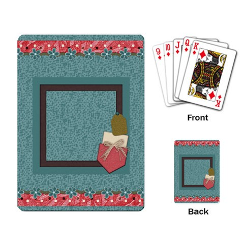 Kit H&h Playing Cards 2 By Lisa Minor   Playing Cards Single Design   5oi8d52mv52b   Www Artscow Com Back