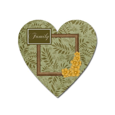 Autumn Story Heart Magnet 1 By Lisa Minor   Magnet (heart)   Q1fyjib5i0td   Www Artscow Com Front