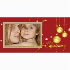Merry Christmas By Wood Johnson   4  X 8  Photo Cards   13dv4jwe5or7   Www Artscow Com 8 x4 Photo Card - 1