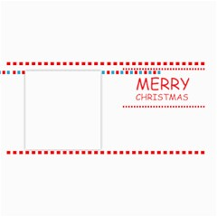 Merry Christmas By Wood Johnson   4  X 8  Photo Cards   1htpqdmg0411   Www Artscow Com 8 x4 Photo Card - 4
