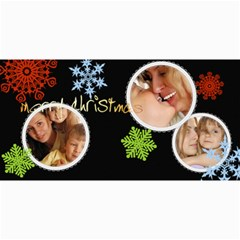 Merry Christmas By Wood Johnson   4  X 8  Photo Cards   Lv3jmdr5c74a   Www Artscow Com 8 x4 Photo Card - 1