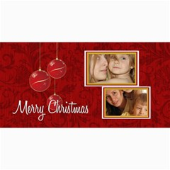 Merry Christmas By Wood Johnson   4  X 8  Photo Cards   2ebl4bues4dc   Www Artscow Com 8 x4 Photo Card - 1