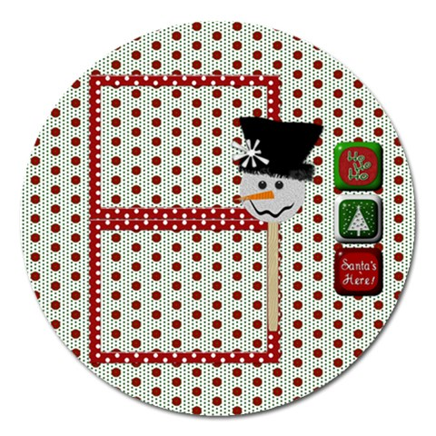 Christmas Magnet By Lisa Minor   Magnet 5  (round)   S88hgrs10on6   Www Artscow Com Front