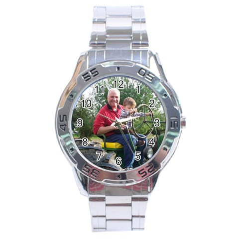 By Stephanie Stobo   Stainless Steel Analogue Watch   Akp9fjtppeep   Www Artscow Com Front