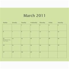 Great Grandma s Calender By Alicia   Wall Calendar 11  X 8 5  (12 Months)   Jchsef8ix07z   Www Artscow Com Mar 2011
