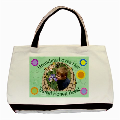 Grandma s Sweet Honey Bees By Chere s Creations   Basic Tote Bag   Zpwxpduuqxwc   Www Artscow Com Front