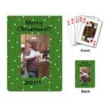 Santas white christmas pic - Playing Cards Single Design