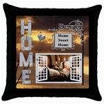 Home Sweet Home Throw Pillow Case - Throw Pillow Case (Black)