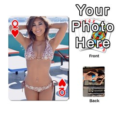 Queen Bikini Cards By Kesma   Playing Cards 54 Designs   Kx3ygishvibr   Www Artscow Com Front - HeartQ