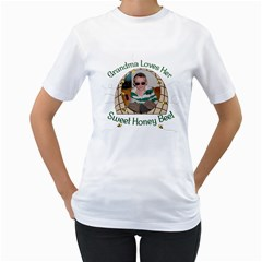 Grandma s Sweet Honey Bee By Chere s Creations   Women s T Shirt (white) (two Sided)   Jq886bz5nrng   Www Artscow Com Front