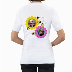 Grandma s Sweet Honey Bee By Chere s Creations   Women s T Shirt (white) (two Sided)   Jq886bz5nrng   Www Artscow Com Back