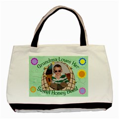 Grandma s Honey Bees Double Sided By Chere s Creations   Basic Tote Bag (two Sides)   Jlz7scr9cpwk   Www Artscow Com Front