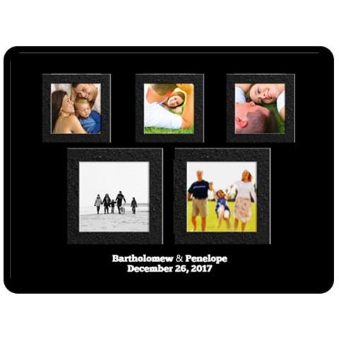 Extra Large Xl Blanket, Black 5 Frames Design By Angela   Fleece Blanket (large)   7pggjwfv9yu0   Www Artscow Com 80 x60 Blanket Front