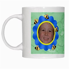 Grandma s Sweet Honey Bees Mug Green 2 By Chere s Creations   White Mug   Diunve25idar   Www Artscow Com Left